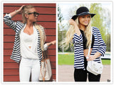 OL Work Women Casual Open Front Blazer Btmfashion