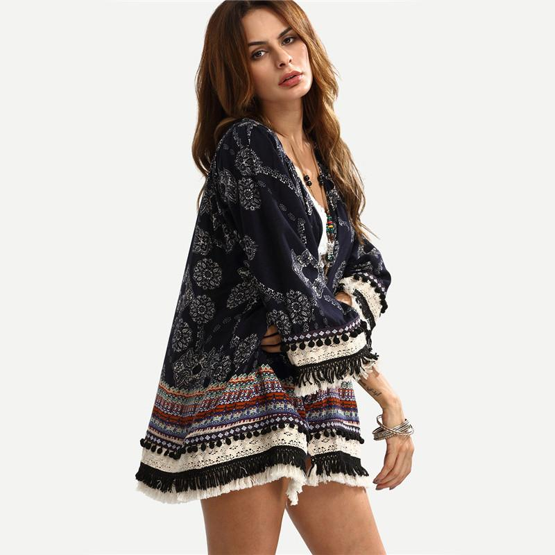 Casual Womens Three Quarter Kimono Btmfashion