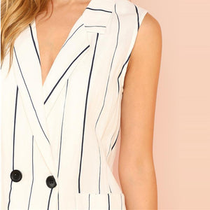 Double Breasted Pocket Front Notched Blazer Btmfashion