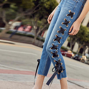 new straps worn jeans Moka-Fashion
