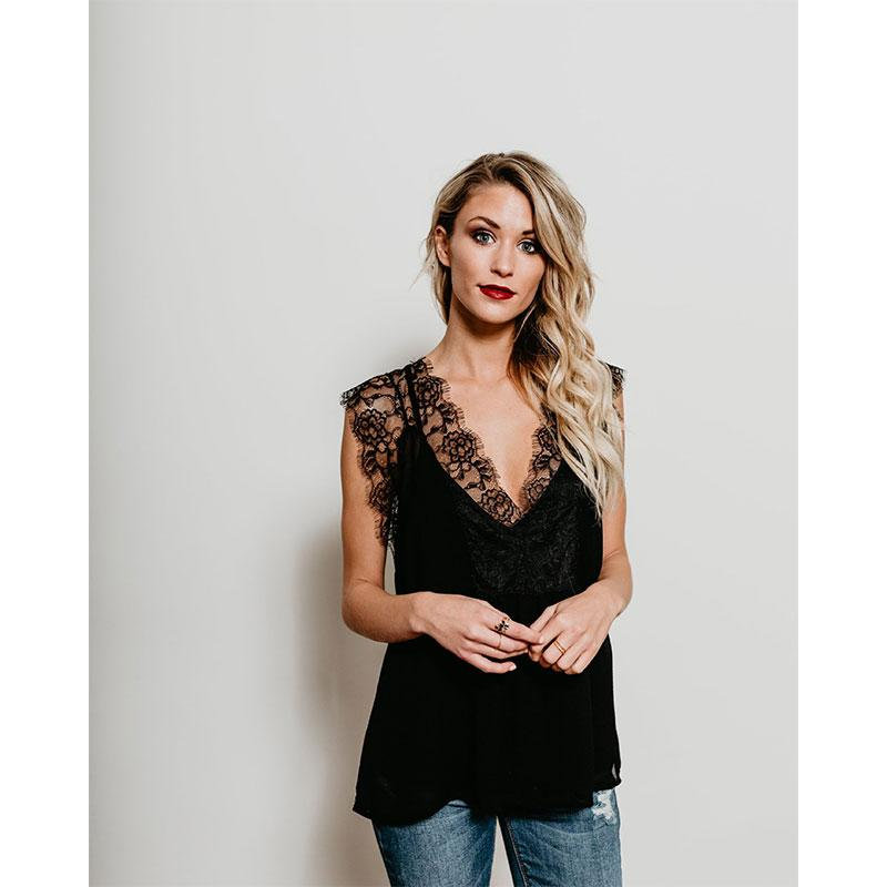 V Neck Tank Tops Moka-Fashion