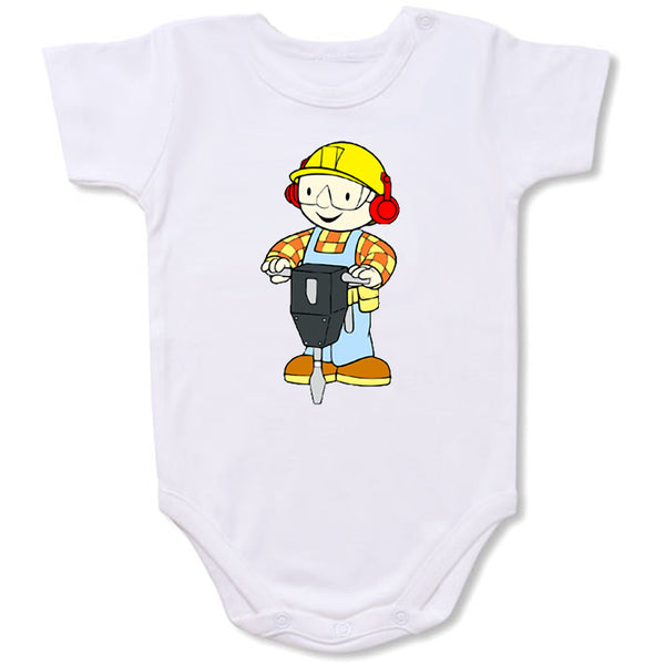 Bob The Builder Cartoon Baby creepers,Baby jumper,Baby one piece,Baby onesies,T shirt ,Comics Tee,Funny T shirt Cartoon Baby creepers,Baby jumper,Baby one piece,Baby onesies,T shirt
