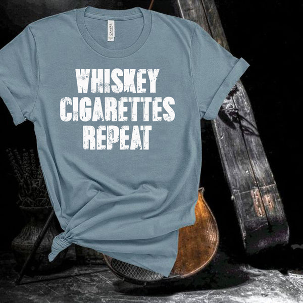 David Allen Coe,Whiskey Cigarettes Repeat,Country Music,Unisex,Short Sleeve T Shirt