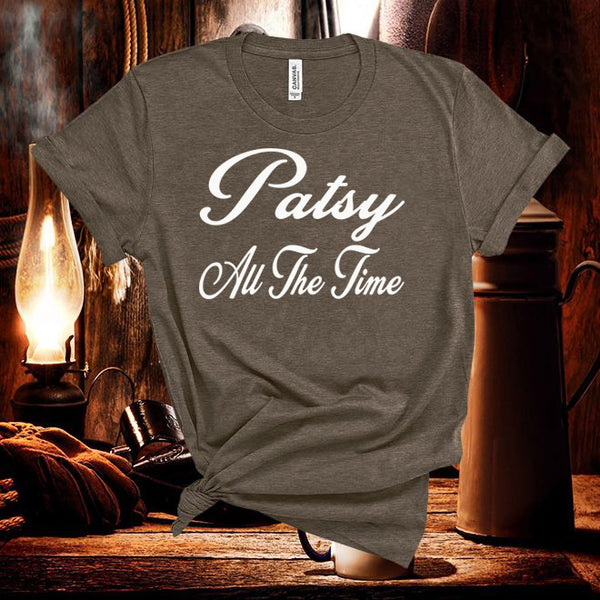 Patsy Cline,All The Time,Unisex short sleeve Tshirt Country Music Tshirt