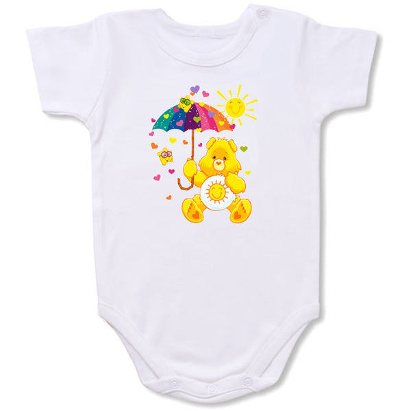 Care Bear Funshine-Umbrella  Cartoon Baby creepers,Baby jumper,Baby one piece,Baby onesies,T shirt ,Comics Tee,Funny T shirt Cartoon Baby creepers,Baby jumper