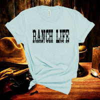 Cowgirl Ranch Life Vintage Inspired Country Tee, Cowboy T-Shirt, Country Music Festival, Texas Rancher Unisex Tee