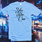 Yes she can Tshirt,Single Shirt,Girl Power,Softstyle Unisex Tee