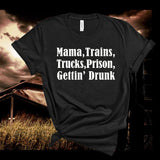 David Allan Coe Mama, trains Tshirt,Short Sleeve Unisex T-Shirt