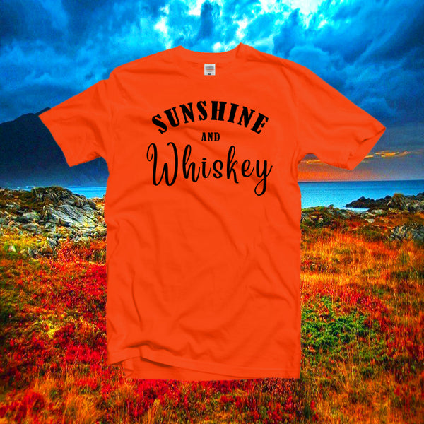 Sunshine and whiskey tee,women gifts,summer festival tees,country music shirt,drinking party shirt,concert southern shirt,unisex tees