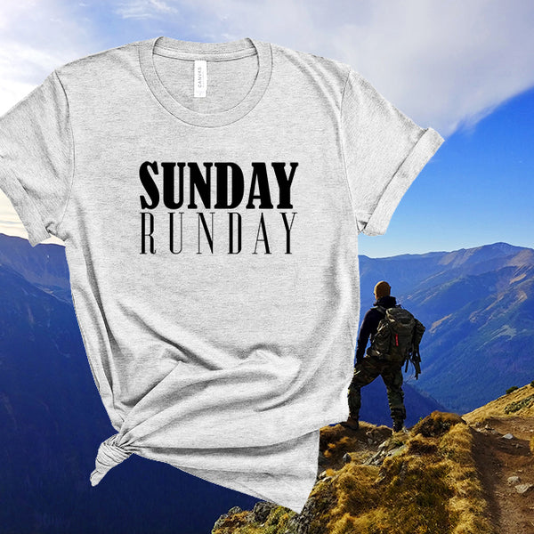 Sunday runday tshirt,funny workout shirt for women,running gift,graphic tee,funny tshirts,workouts gifts for women