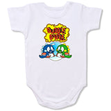 Bubble bobble Cartoon Baby creepers,Baby jumper,Baby one piece,Baby onesies,T shirt ,Comics Tee,Funny T shirt Cartoon Baby creepers,Baby jumper,Baby
