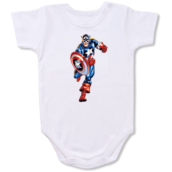 Captain America  Cartoon Baby creepers,Baby jumper,Baby one piece,Baby onesies,T shirt ,Comics Tee,Funny T shirt Cartoon Baby creepers,Baby jumper