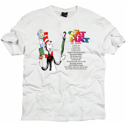Cat in the hat cartoon T-shirt