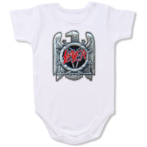Slayer Big Buck Music Band Logo Baby onesie,Bodysuit,Baby creepers,Baby jumper,Baby one piece,Baby onesies,T shirt ,Band Tee