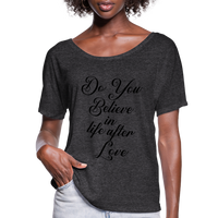 Cher,Do You Believe in, Life After Love,Inspired  Las Vegas Trip,Music Flowy T-Shirt - charcoal gray