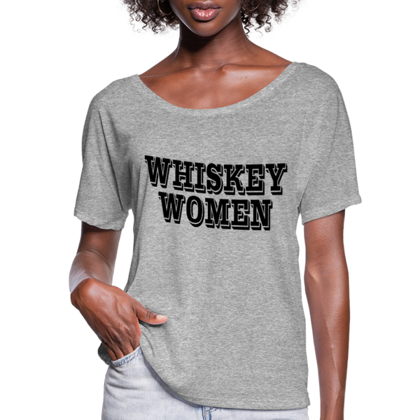 Alison Krauss and Union Station,Whiskey Women,Country Music Flowy T-Shirt - heather gray