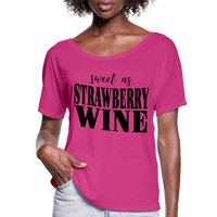 Chris Stapleton,Sweet as Strawberry Wine Tshirt,Country shirts,Country Girl,Country Music Flowy T-Shirt - imagineshops