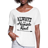 Tim McGraw, Always Stay Humble & Kind,Country Music Flowy T-Shirt - white