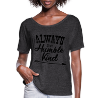 Tim McGraw, Always Stay Humble & Kind,Country Music Flowy T-Shirt - charcoal gray