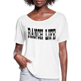Cowgirl Ranch Life Vintage Inspired Country Tee, Cowboy T-Shirt, Country Music Festival, Texas Rancher - white