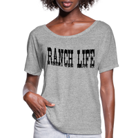 Cowgirl Ranch Life Vintage Inspired Country Tee, Cowboy T-Shirt, Country Music Festival, Texas Rancher - heather gray