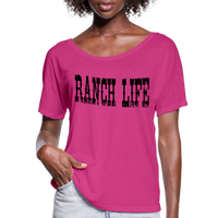 Cowgirl Ranch Life Vintage Inspired Country Tee, Cowboy T-Shirt, Country Music Festival, Texas Rancher - dark pink