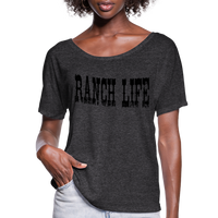Cowgirl Ranch Life Vintage Inspired Country Tee, Cowboy T-Shirt, Country Music Festival, Texas Rancher - charcoal gray