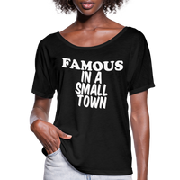 Miranda Lambert,Famous In A Small Town,Country Unisex Tshirt,Country Music Flowy T-Shirt - black