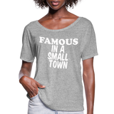 Miranda Lambert,Famous In A Small Town,Country Unisex Tshirt,Country Music Flowy T-Shirt - heather gray