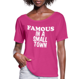Miranda Lambert,Famous In A Small Town,Country Unisex Tshirt,Country Music Flowy T-Shirt - dark pink