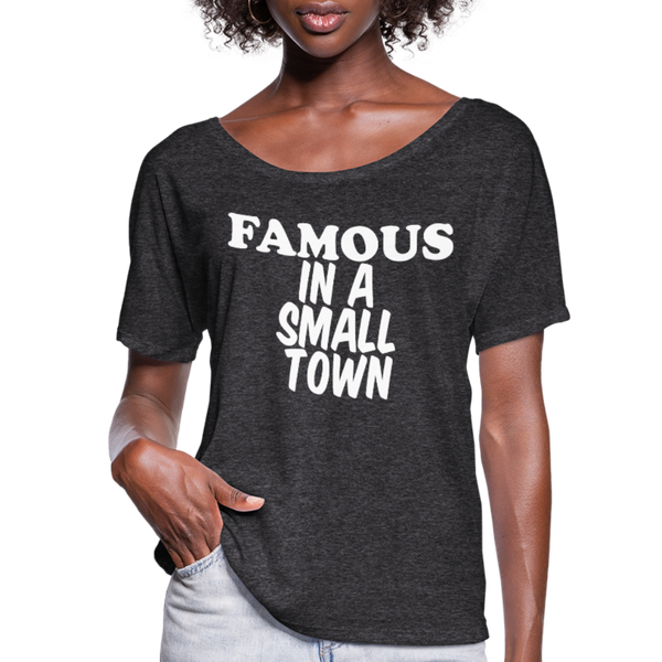 Miranda Lambert,Famous In A Small Town,Country Unisex Tshirt,Country Music Flowy T-Shirt - charcoal gray