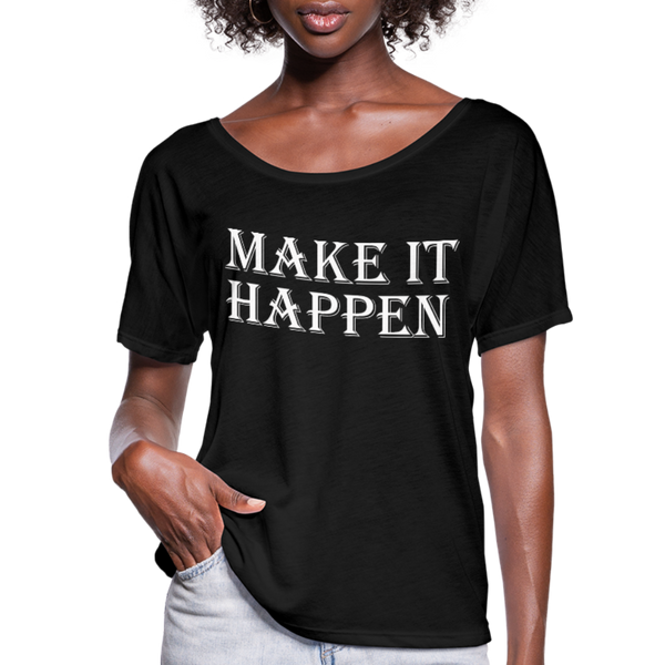 Make it Happen Shirt,Super Soft Unisex Short Sleeve T-Shirt - black