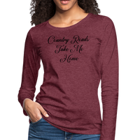 John Denver,Country Roads Take Me Home ,Country,Women's Premium Long Sleeve T-Shirt - imagineshops
