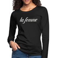 La Femme Tshirt,Femme Power,feminist shirt,Funny Women shirt,woman tee,Gift idea,Ladies Shirt,Girl power,Women's Premium Long Sleeve T-Shirt - imagineshops
