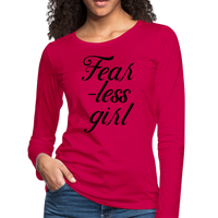 Fearless Girl Tshirt,Women's Premium Long Sleeve T-Shirt - imagineshops