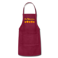 Halloween pumbkin Adjustable Apron - burgundy
