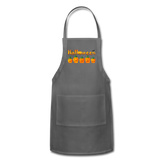 Halloween pumbkin Adjustable Apron - charcoal