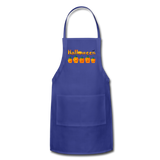 Halloween pumbkin Adjustable Apron - royal blue