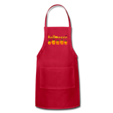 Halloween pumbkin Adjustable Apron - red