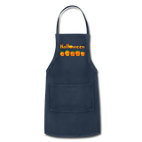 Halloween pumbkin Adjustable Apron - navy