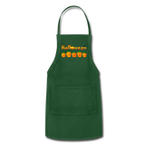 Halloween pumbkin Adjustable Apron - forest green