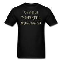 thanksgiving-003-Grateful Thankful Blessed Shirt,Fall Shirt,Grateful Shirt,Thankful Shirt,Blessed Shirt,Thanksgiving Shirt,Thanksgiving Shirt Unisex Classic T-Shirt - black