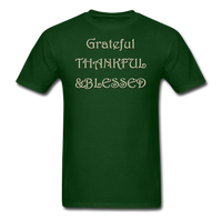thanksgiving-003-Grateful Thankful Blessed Shirt,Fall Shirt,Grateful Shirt,Thankful Shirt,Blessed Shirt,Thanksgiving Shirt,Thanksgiving Shirt Unisex Classic T-Shirt - forest green