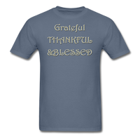 thanksgiving-003-Grateful Thankful Blessed Shirt,Fall Shirt,Grateful Shirt,Thankful Shirt,Blessed Shirt,Thanksgiving Shirt,Thanksgiving Shirt Unisex Classic T-Shirt - denim