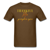 Thankful For Jesus and Pumpkin Spice Unisex Classic T-Shirt - brown