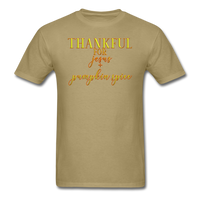 Thankful For Jesus and Pumpkin Spice Unisex Classic T-Shirt - khaki