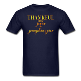 Thankful For Jesus and Pumpkin Spice Unisex Classic T-Shirt - navy