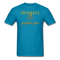 Thankful For Jesus and Pumpkin Spice Unisex Classic T-Shirt - turquoise