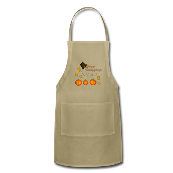 Halloween pumbkin Adjustable Apron - khaki