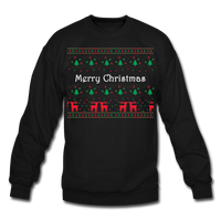Merry Chistmas Design gift for Family Unisex, Crewneck Sweatshirt - black